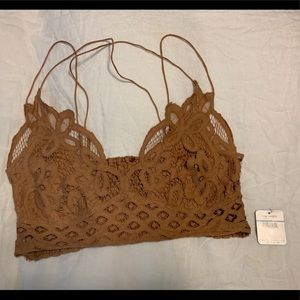 Free People Bralette Camel XL NWT